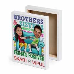 Friends Forver - Caricature Canvas