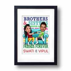 Friends Forever - Caricature Frame