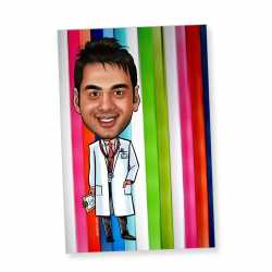 Doctor - Caricature magnet
