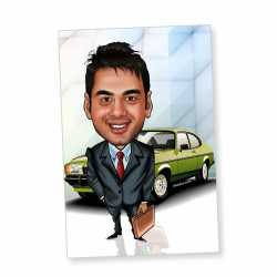 Businessman - Caricature magnet