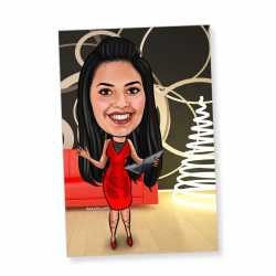 Modern Girl - Caricature magnet