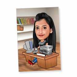 Office Girl - Caricature magnet