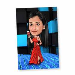 Party Girl - Caricature magnet