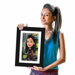 Shopaholic - Caricature Photo Frame