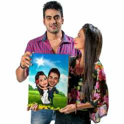 Super Couple - Caricature Canvas