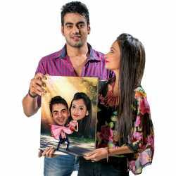 Happy Couple - Caricature Canvas