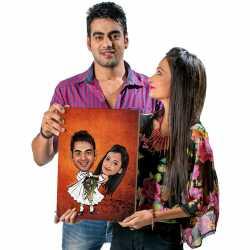 Best Couple - Caricature Canvas