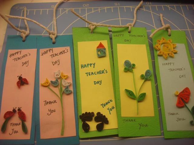 handmade teachers day cards ideas
