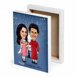 caricature canvas for raksha bandhan