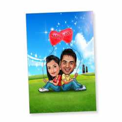 Love special caricature chumbak for couples