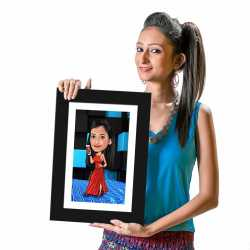Valentine special personalized caricature for your wife