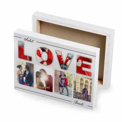 Valentine Gifts - Photo Collage on Canvas